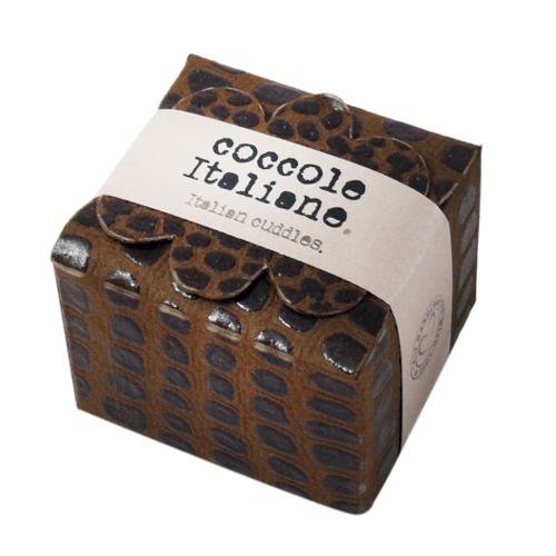 Mini floret Croco paper band - brown