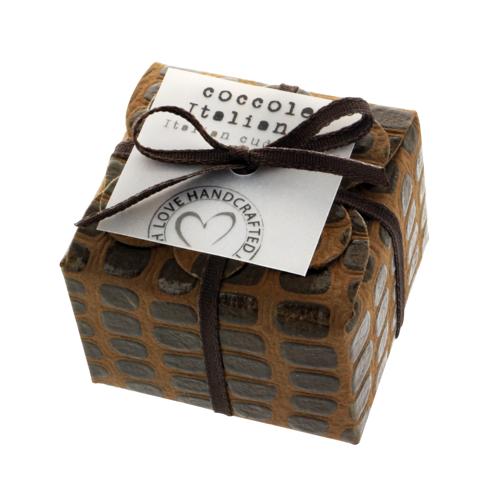 Mini floret Croco ribbon - brown