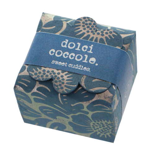 Mini floret Floral paper band - blue