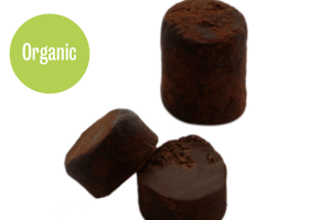 Organic dark chocolate truffle