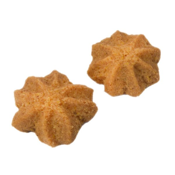 Cornmeal shortbread with ginger - 50 gr (1,76 oz)