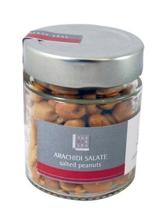 Glass jar big salted peanuts