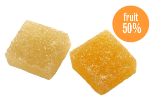 Citrus jelly cubes