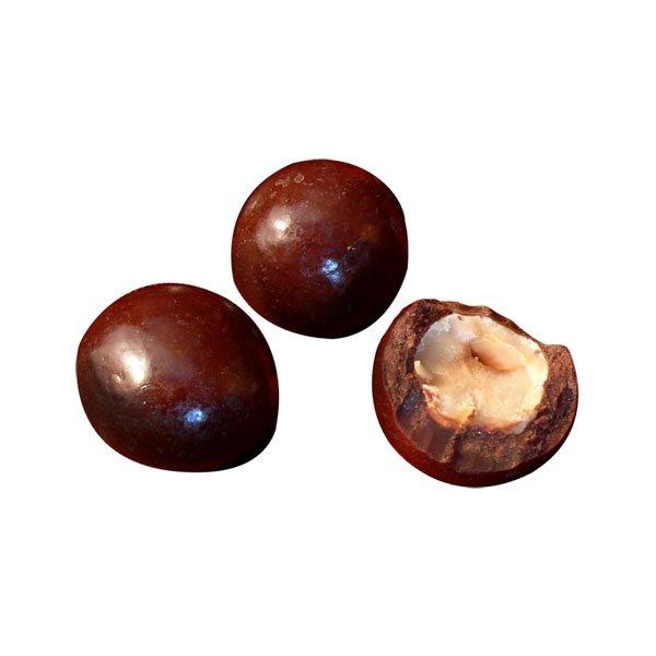 Extra dark chocolate- covered hazelnuts - 90 gr